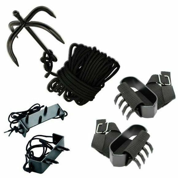 Ninja Grappling Hook Set w  Hand Claws & Foot Spikes Tactical Martial Arts