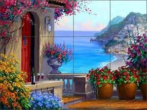 Ceramic-Tile-Mural-Backsplash-Senkarik-Mediterranean-Seascape-Art-MSA145