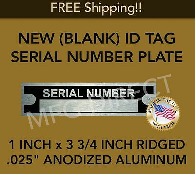 SERIAL NUMBER PLATE HOT ROD RAT CHEVROLET PLYMOUTH DODGE FORD TRAILER ID TAG USA