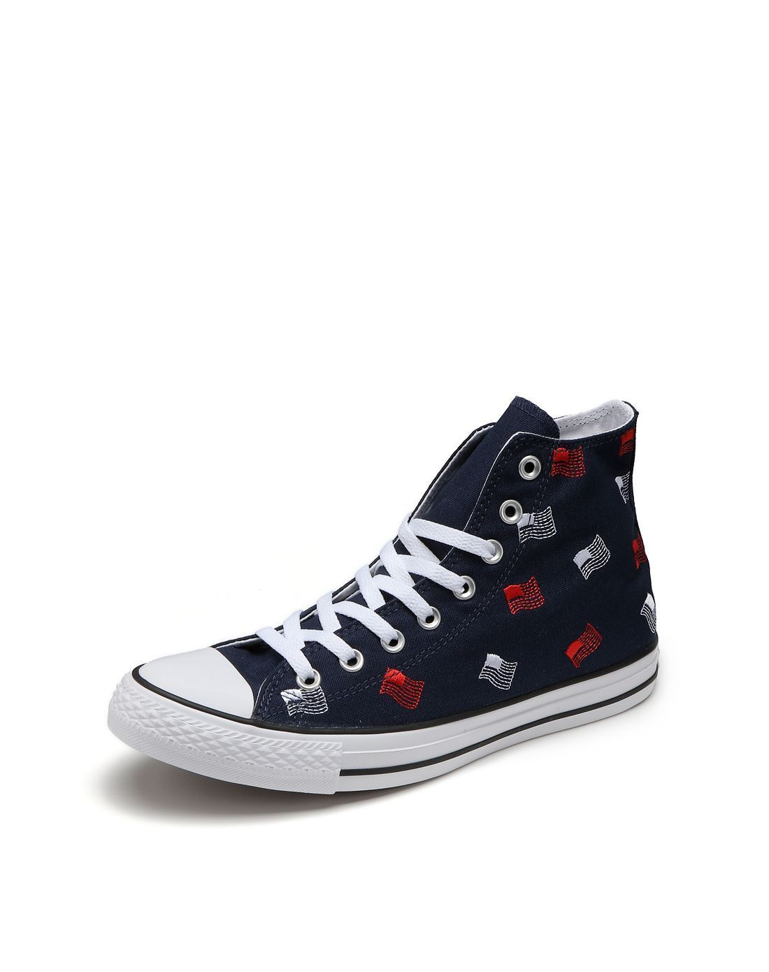 Converse Chuck Taylor All Star Hi Top (Men's 9) Obsidian White Flag Sneakers