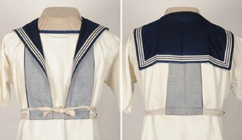 """WW2 British Royal Navy Ratings Sailors square rig Nelson /""""Dicky/"""" collar Repro"""