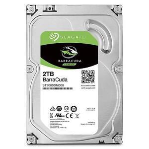 """Seagate BarraCuda 2TB 3.5"""" SATA Internal Desktop Hard Drive HDD 7200RPM 256MB"""