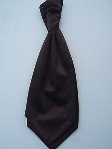 Hombre-Marron-Vestido-Dama-Honor-Boda-Corbata-Para-Trajes