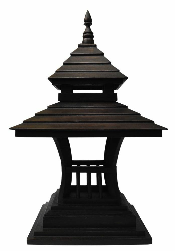 Lampada di legna lanterna fabbricata alla mano imporata dalla Tailandia (15207)