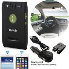 Wireless Bluetooth Car Handsfree Kit Slim Magnetic Speaker Adapter Visor Clip
