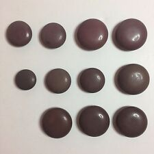 11 Vintage Dark Brown Plastic Sewing Buttons - Various Sizes & Shades Of Brown