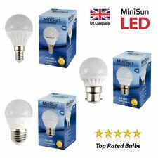 MiniSun LED 4W SES E14 BC ES Golf Ball Globe Lamp Light Bulbs Warm Cool White A+