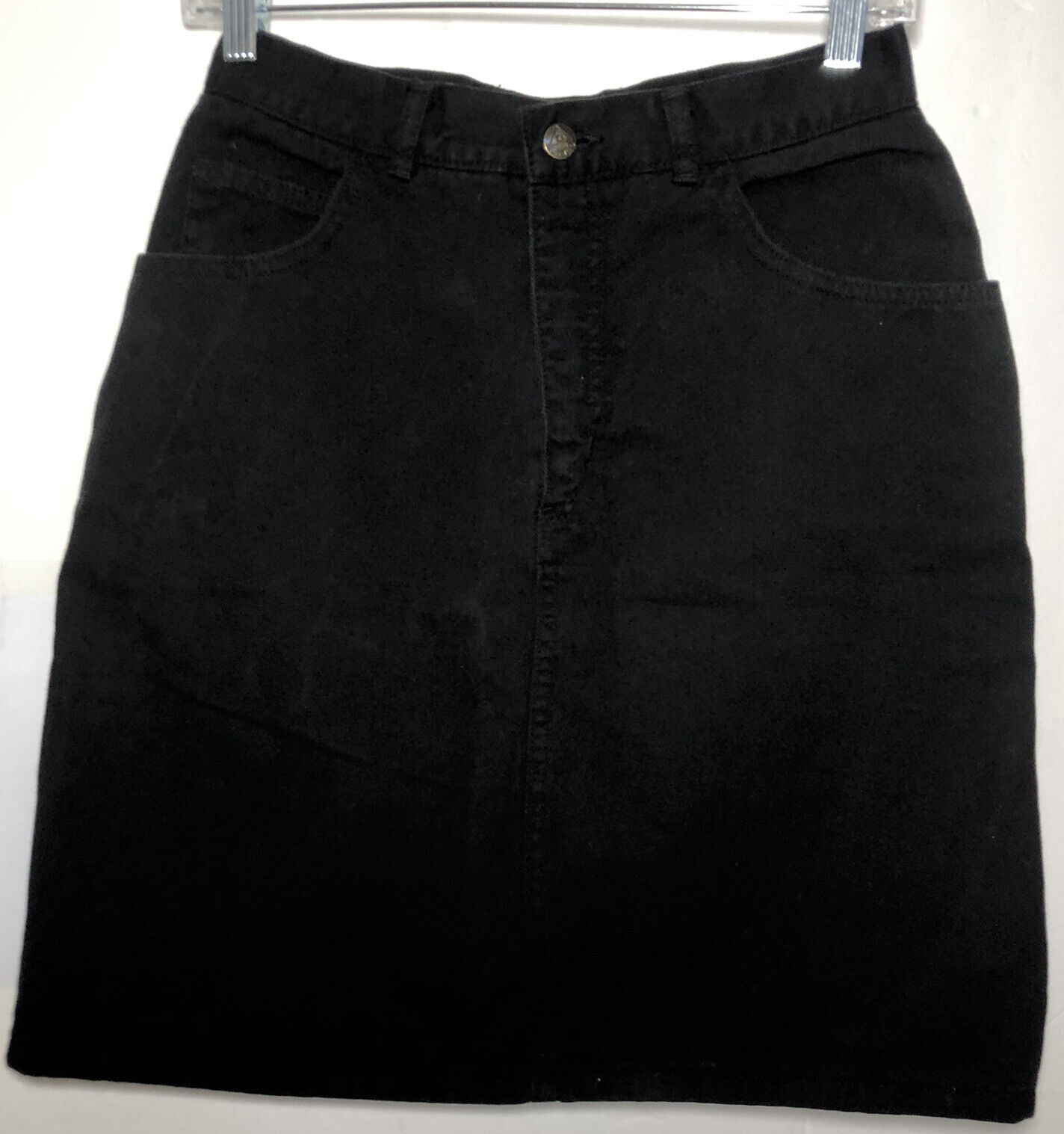 VTG Guess by Marciano Black Denim Skirt High Waist Size 32 Jeans Guess Logo USA