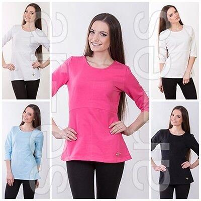Ladies Top Size 8/10/12 Women's Jumper 3/4 Sleeves Multicolour Blouse Den Speichel Auffrischen Und Bereichern