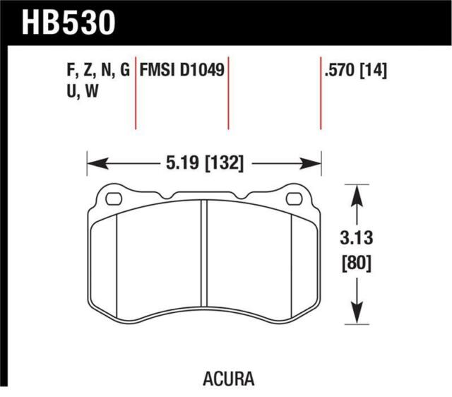 Hawk For 07-08 Acura TL Type S Performance For Ceramic