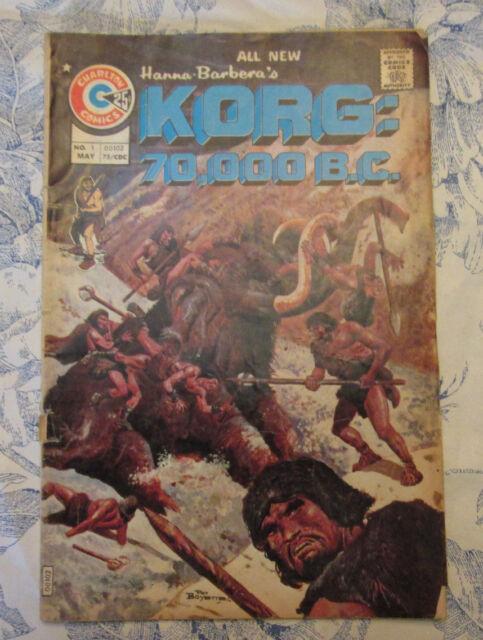 Korg: 70,000 B.C. #1 (May 1975, Charlton)