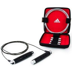Adidas-ponderee-skipping-rope-set-speed-jump-sauter-boxe-fitness-avec-etui