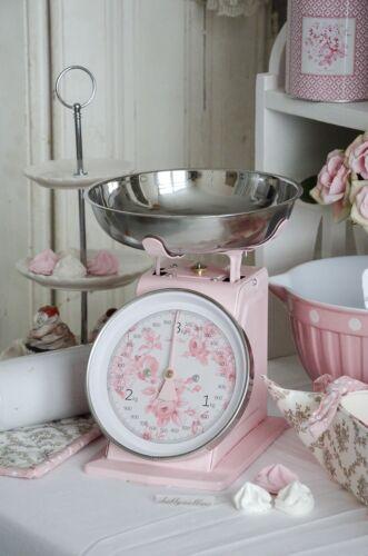 Küchenwaage Waage Scale Rosé Küche Backen Shabby Chic Landhaus