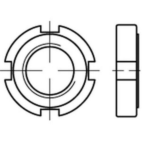 ungehärtet,ungeschliffen DIN 1804 14 H M 58 x 1,5 VES Nutmuttern