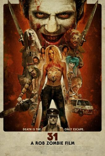31 Movie Poster A Rob Zombie Film Horror Vintage Design 2016 HQ Art Print 27×40/""