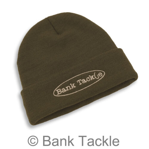Carp Fishing Beanie Hat Olive Green Bank Tackle Embroidered Logo Clothing YH1