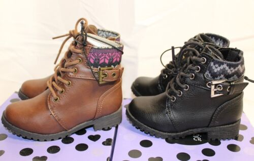NEW Toddler Girls Okie Dokie Lawson Brown or Black ankle boots