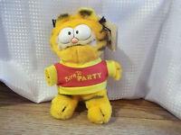 Vtg 1981 (dakin 8 Garfield Plush) Born To Party Old Stock Jim Davis