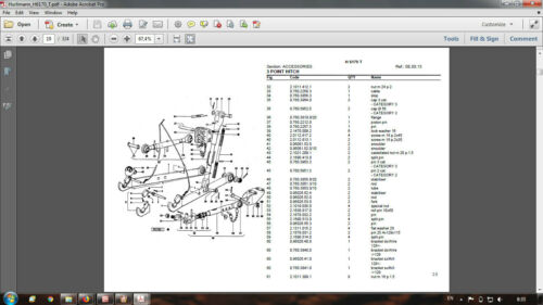 Hurlimann H-6170 T parts catalog in PDF format