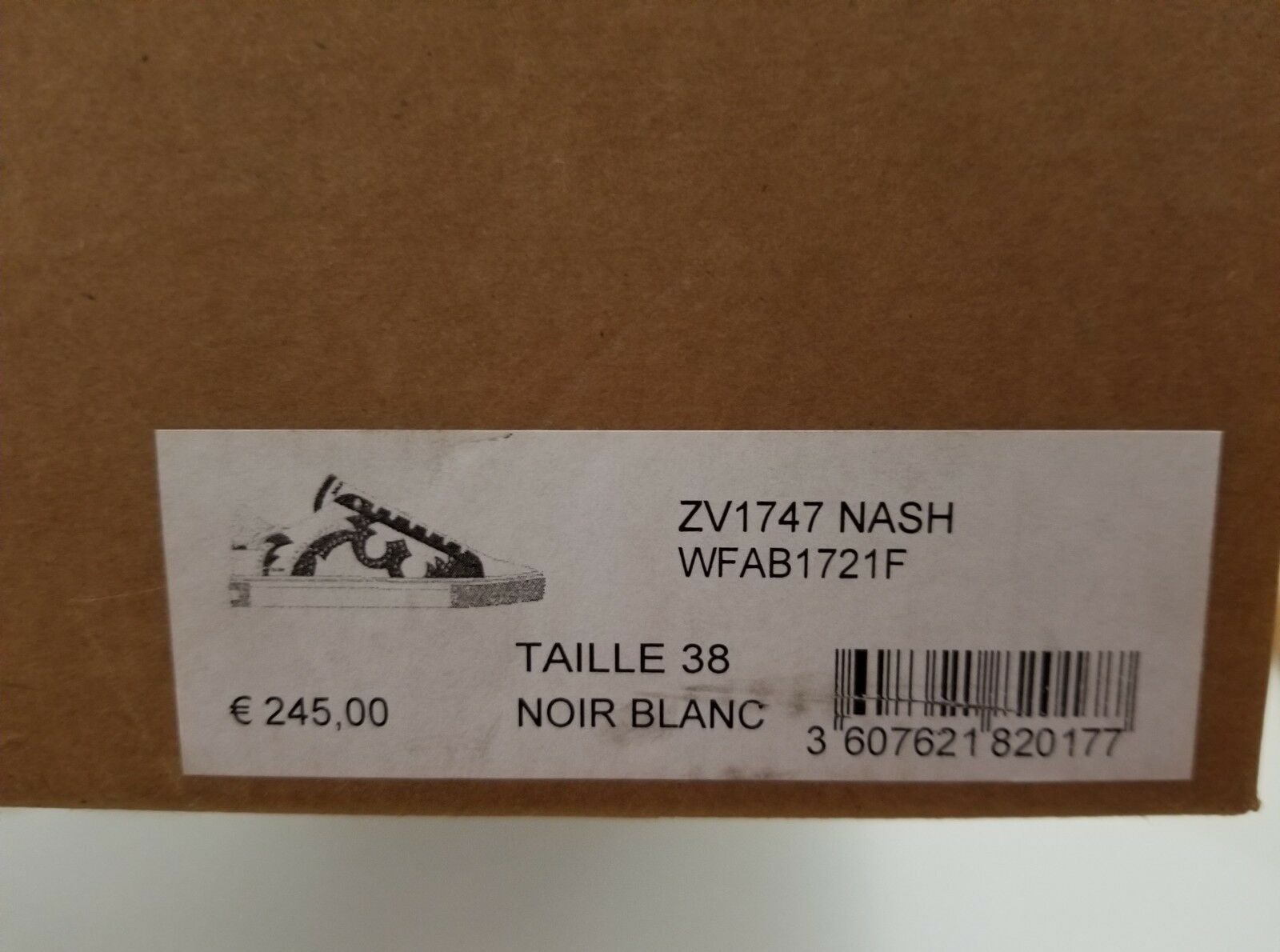 Nuevo En Caja Zadig Zadig Zadig & Voltaire ZV1747 Nash Zapatillas Negro Y blancooo Talla 36, 38, 39  328 643f91