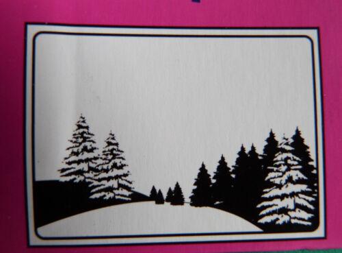 Crafts-Too//CTFD 4008//C6//gaufrage//Dossier//Pine Tree Scène//Noël