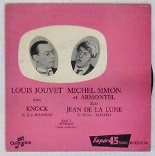 Louis Jouvet Michel Simon 45 tours Knock Jean de la Lune Columbia