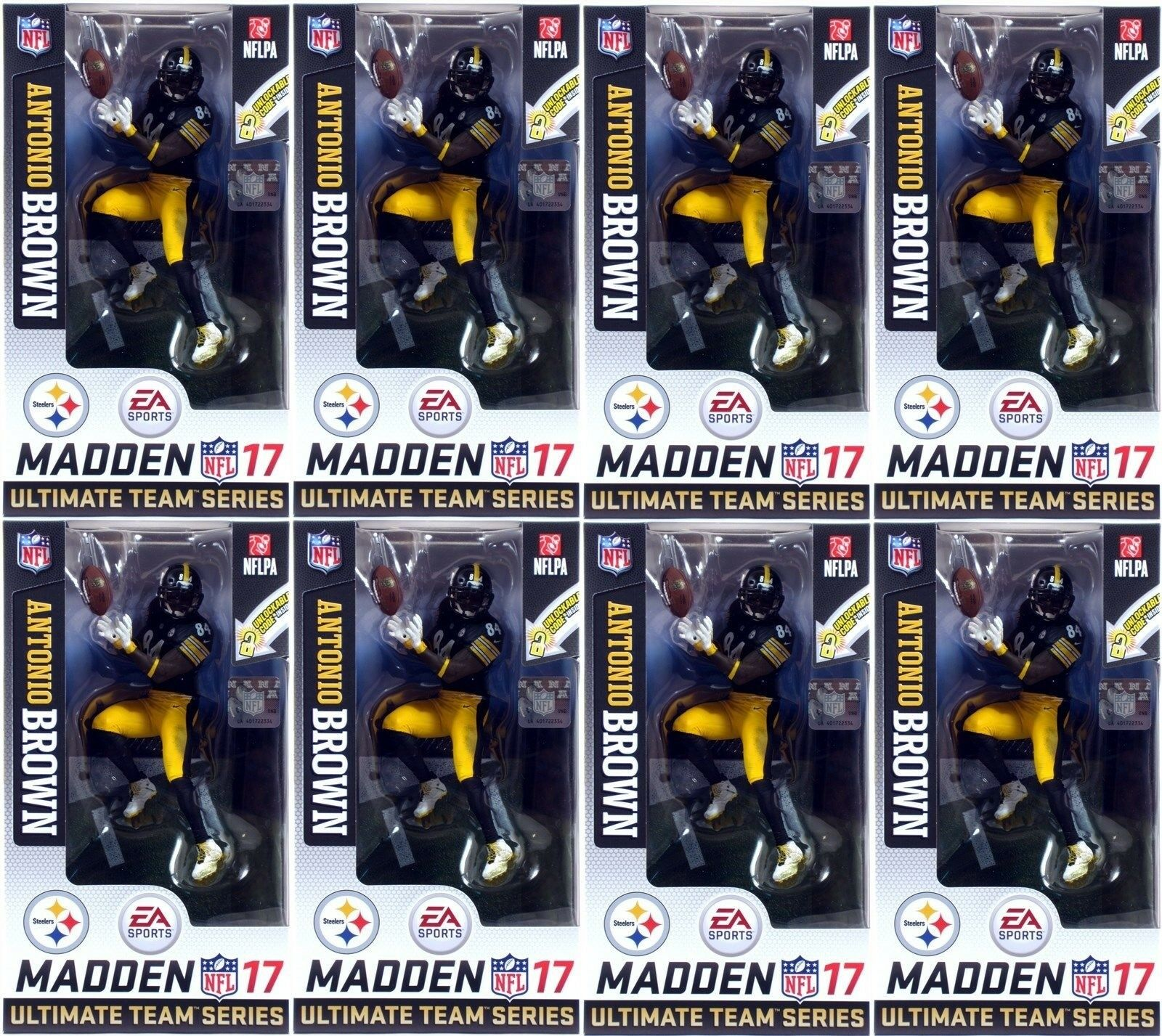 McFarlane EA Sports Madden Madden Madden NFL 17 Ultimate Team Series 3 ANTONIO BROWN LOT OF 8 0098be