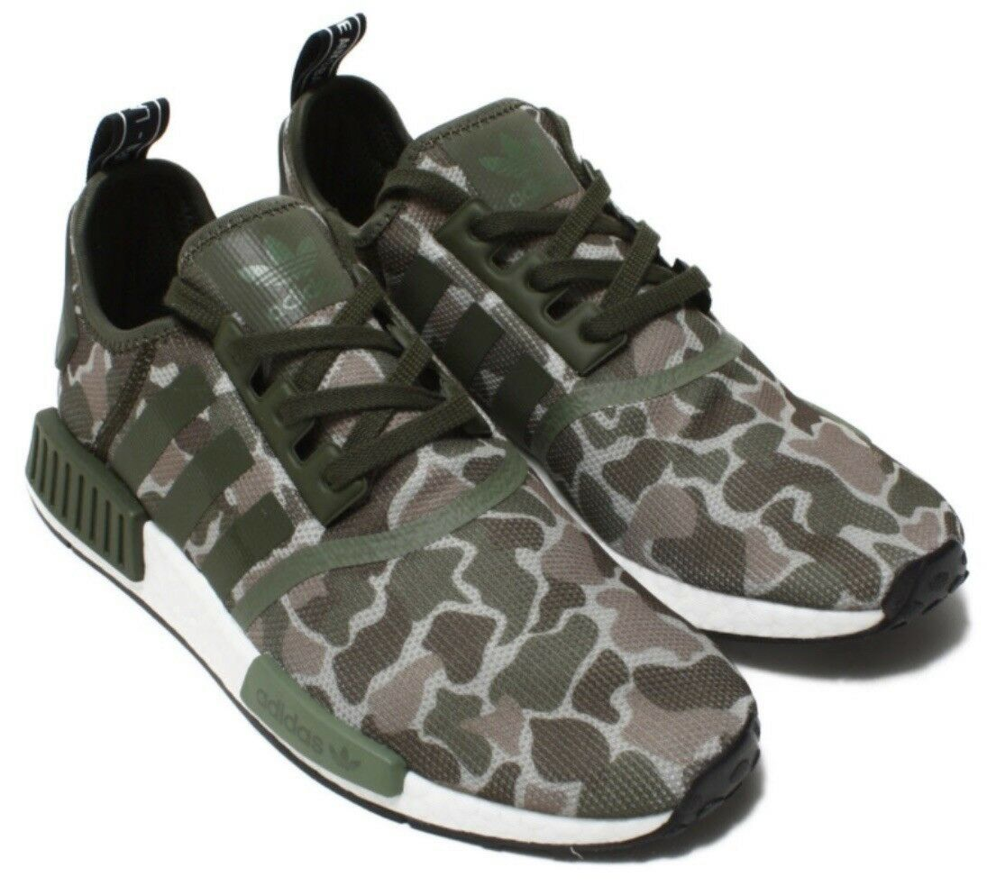 Adidas NMD Sesame Camoflage shoes 8 MENS BOOST Green Camo