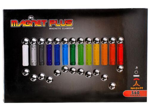 Magnetspielzeug Magnet Baukasten NEU Magnetbaukasten XXL 560 tlg Magnetset