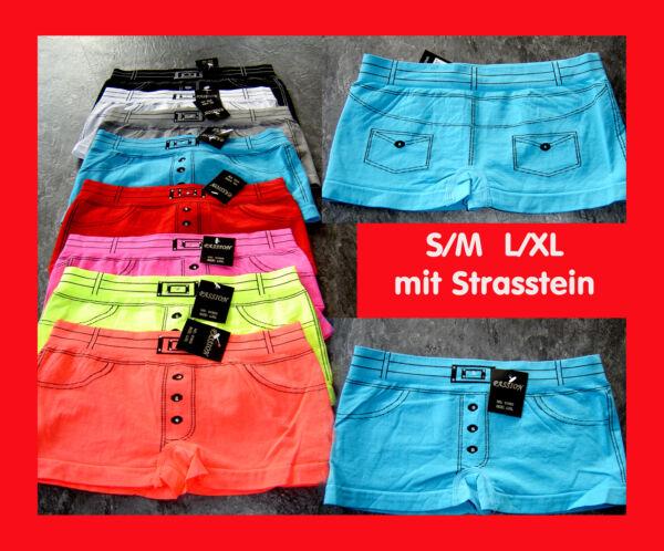 Damen Boxershorts Pants Pantys Hipster,mit Strassstein, 8 Farben,S/M,L/XL NEU
