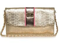Pauls Boutique Cassie Gold Pink Snake Chain Clutch Bag £50