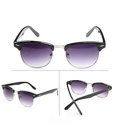 POLARIZED Clubmaster Style Half Frame Sunglasses Vintage Aviator Outdoor Eyewear