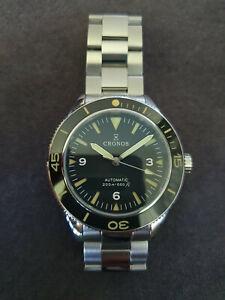 Cronos Herren Armbanduhr Saphirglas Seiko NH35 Uhrwerk LM6004 Topzustand!!