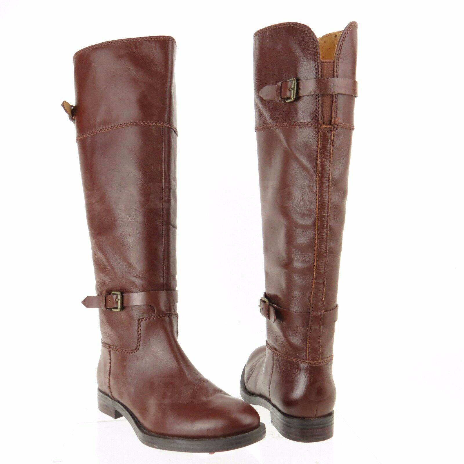 Enzo Angiolini Eero Women's shoes Brown Leather Knee High Boots Sz 6 M