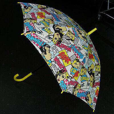 New Wave Black Comic Book Anime Parasol Umbrella Gothic Lolita 80s 90s Kpop Punk