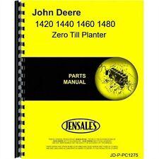 John Deere 1420 1440 1460 1480 Planter Parts Manual Catalog Zero Till Pc1275