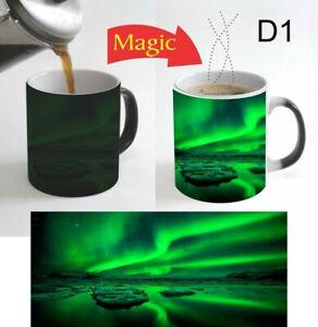Beautiful Aurora Northern Lights Color Change Magic Coffee Mug 11 Oz Christmas