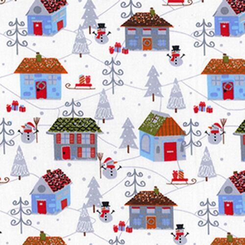 "100/% Cotton Fabric 54/"" width -279 Christmas Scene Fabric ON SALE"