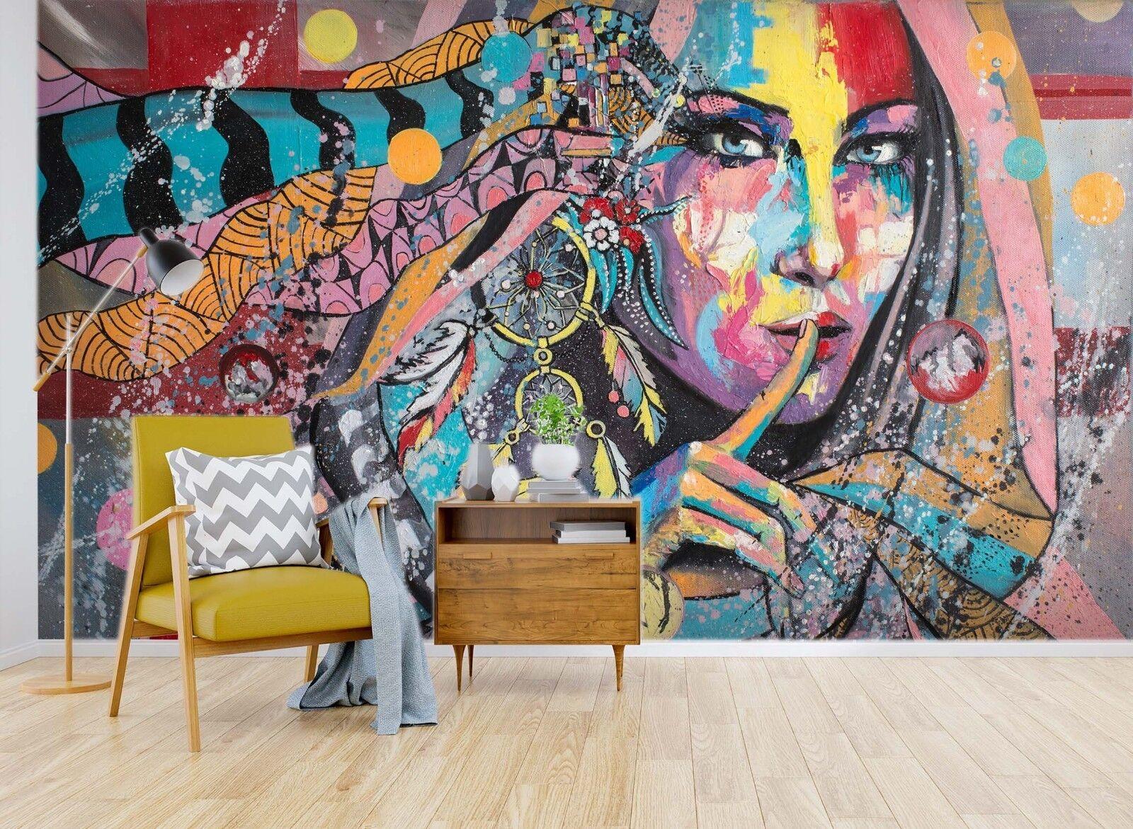 3D Graffiti Girl Painting 874 Wallpaper Mural Paper Wall Print Murals UK Sidney