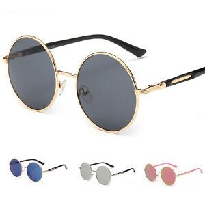 e30e615ee Women's Retro Fashion Round Frame Mirrored Sunglasses Outdoor ...