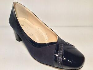 sports shoes dc050 df524 Dettagli su SCARPE DECOLTE' DONNA MM CONFORT 506 COL BLU MADE IN ITALY  TACCO 50