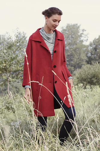 Anthropologie Sz Red 238 S Elevenses Brienne Coat di Small New ZxgnAg
