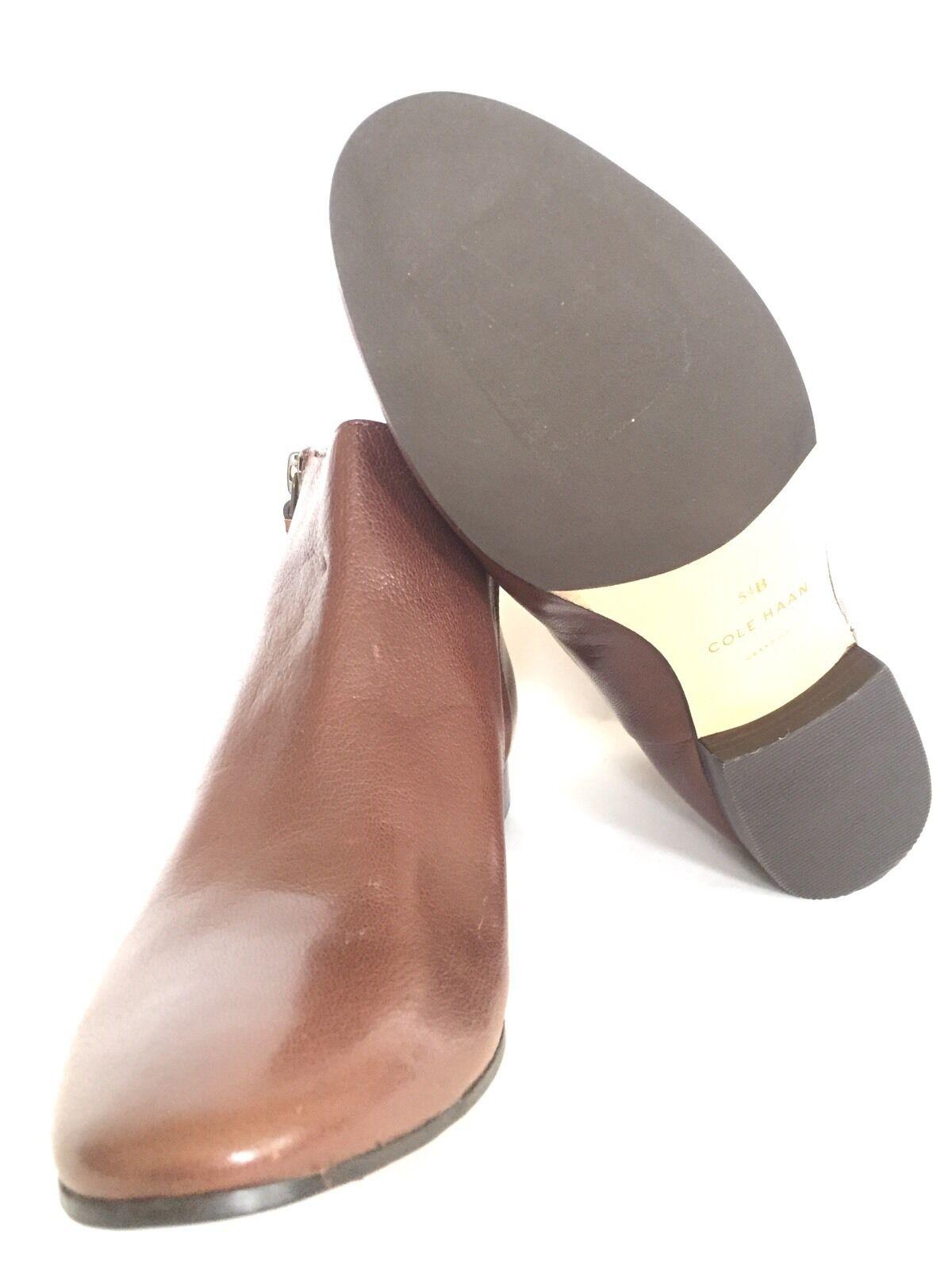 COLE Chestnut HAAN Damenschuhe Belmont Bootie Chestnut COLE Braun Leder Ankle Stiefel Größe 5.5 M  d799c5