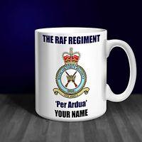 RAF Regiment Personalised Ceramic Mug Gift