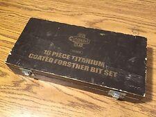 """CUMMINS 16pc Titanium Coated Forstner Drill Bit Set 1/4"""" to 2 1/2"""" no.6831"""