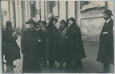 CARTOLINA d'Epoca ROMA - fotografica: VISITA PRESIDENTE WILSON 1919 -- REALI