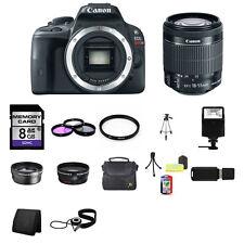 Canon EOS Rebel SL1 DSLR Camera w/18-55mm Lens 8GB Complete Kit