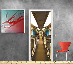 Détails Sur Stickers Porte Trompe L Oeil Deco Interieur De Train Réf 837