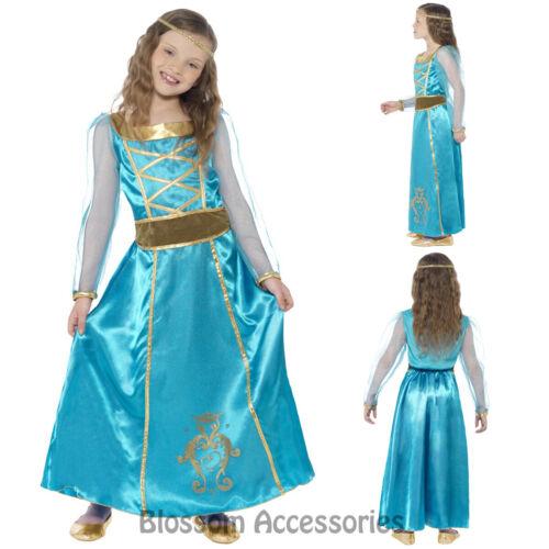 CK825 Medieval Maid Juliet Renaissance Girls Child Book Week Costume Fancy Dress