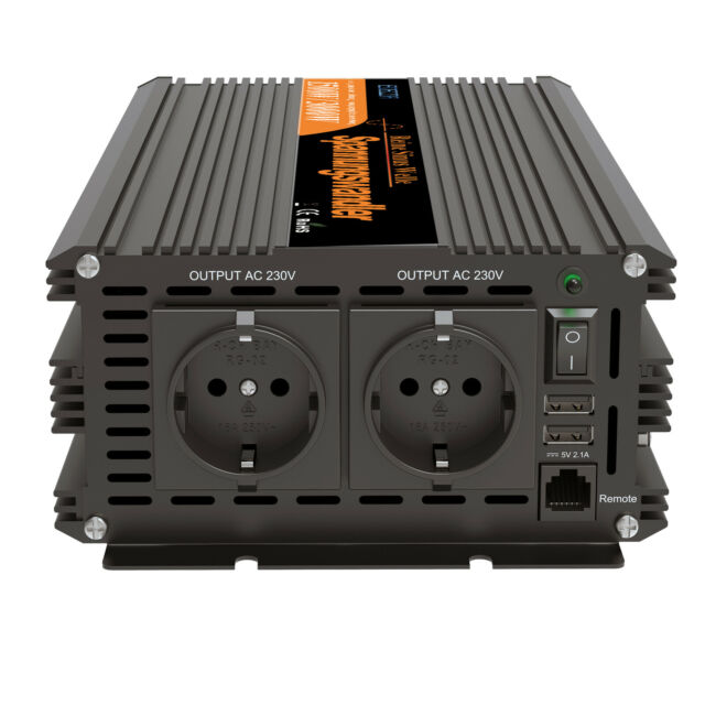 Inverter 1500W 3000W onda sinusoidale pura 12V 220V inverter 2.1A 5V USB EDECOA